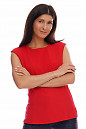Блузка красная со спущенным плечом.  Деловая женская одежда