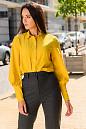 Блузка горчичного цвета. Деловая женская одежда