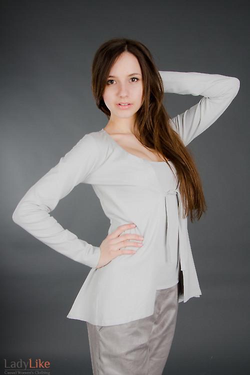 Кардиган светло-серый Деловая женская одежда
