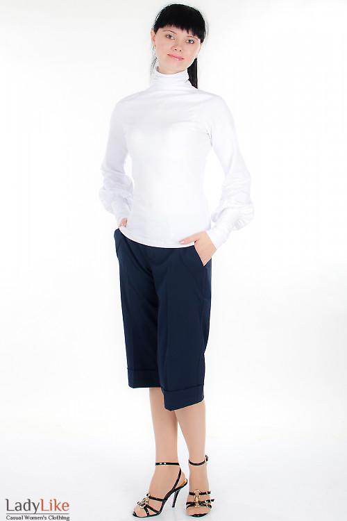 Шорты классические темно-синие Деловая женская одежда