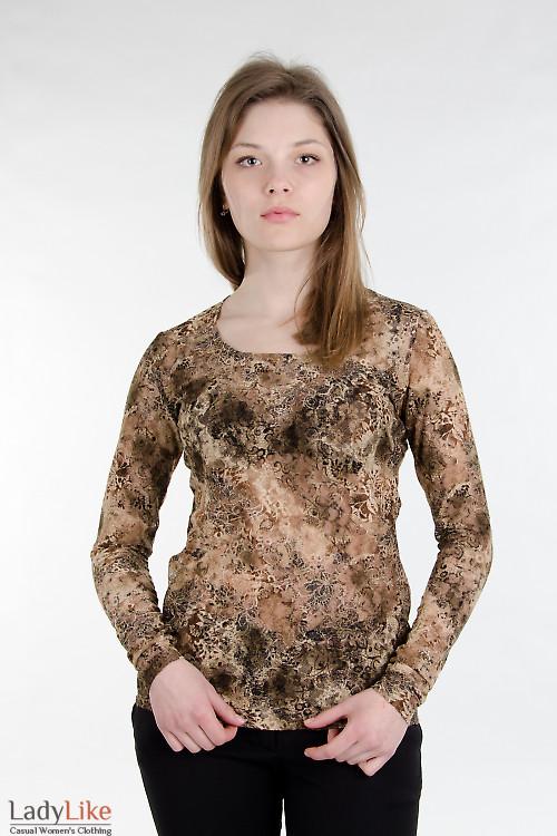 Топ коричневый Деловая женская одежда