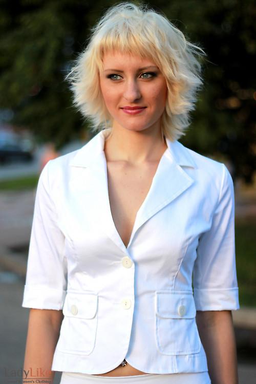 Жакет летний белый Деловая женская одежда