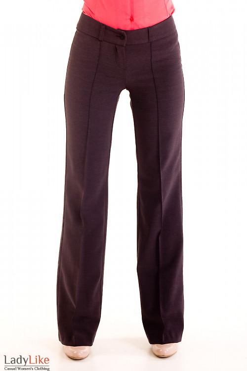 Фото Брюки серые на флисе Деловая женская одежда
