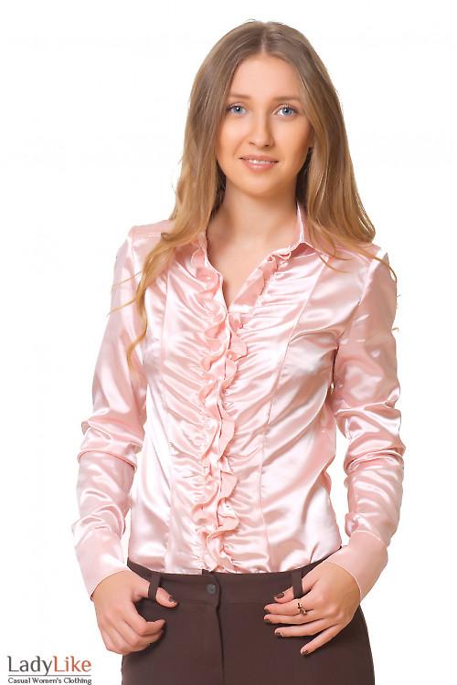 Блузка со сборкой Деловая женская одежда