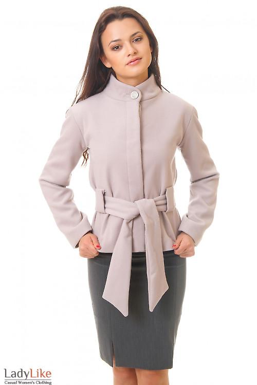 Пальто бежевое короткое купить