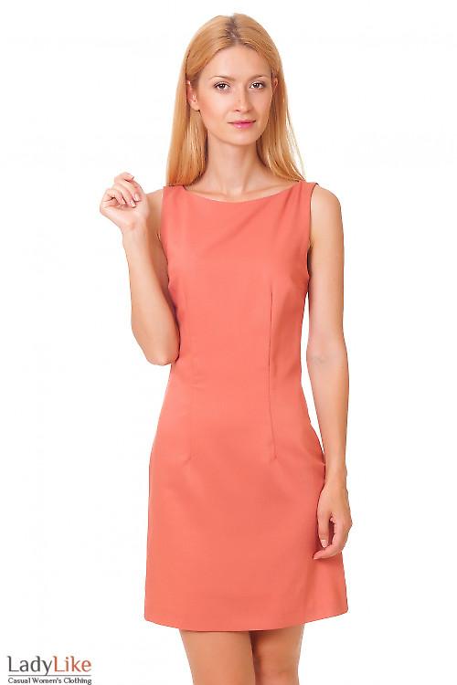 Платье классическое терракотовое  Деловая женская одежда
