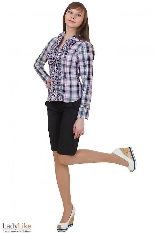 Купить классические черные шорты Деловая женская одежда