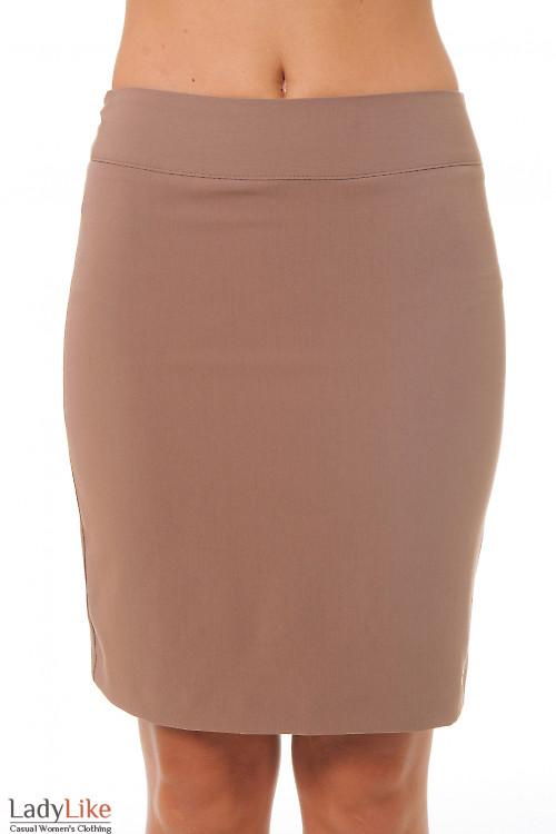 Купить темно-бежевую юбку Деловая женская одежда