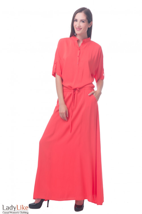 Фото Платье длинное с рукавом Деловая женская одежда