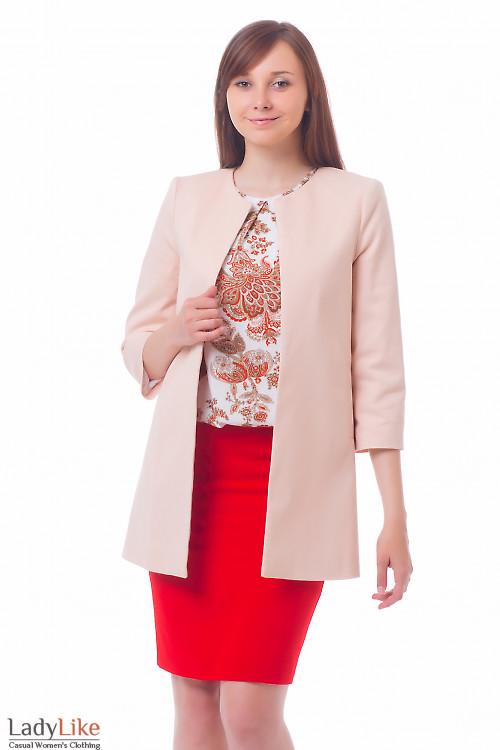 Кардиган бледно-розовый Деловая женская одежда