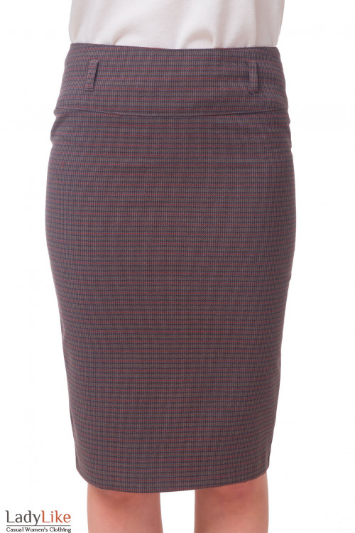 Юбка-карандаш в коричневую полоску. Деловая женская одежда