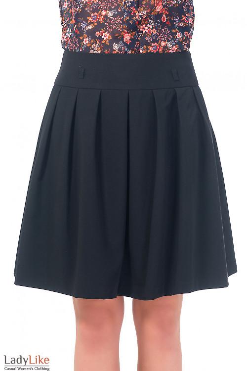 Юбка черная пышная с карманами Деловая женская одежда