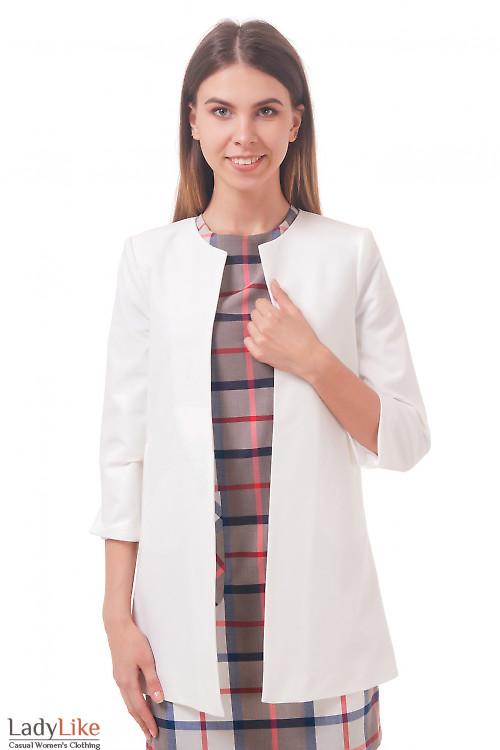 Фото Кардиган молочный Деловая женская одежда