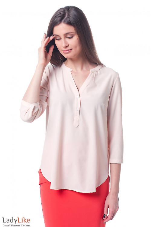 Персиковая женская блузка Деловая женская одежда фото