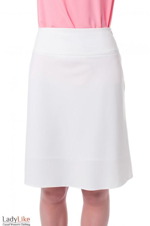 Юбка-клеш белая Деловая женская одежда фото
