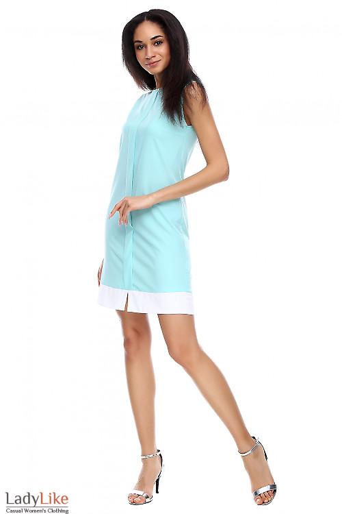 Платье легкое мятного цвета Деловая женская одежда фото