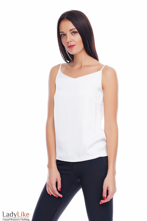 Топ шелковый молочный Деловая женская одежда фото