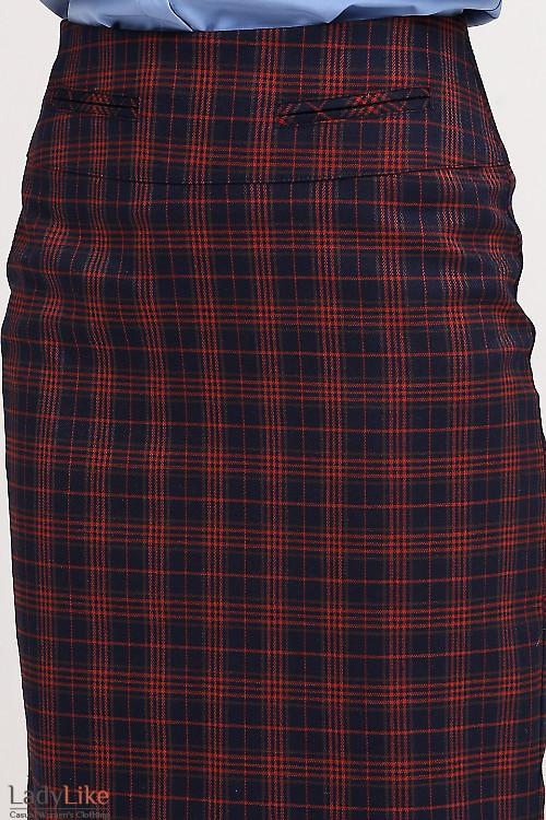Юбка-карандаш в клеточку Деловая женская одежда фото