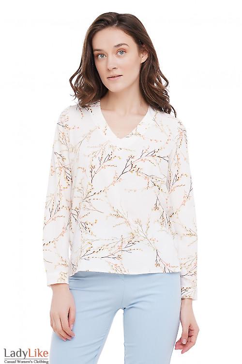 Блузка с мысиком Деловая Женская Одежда фото
