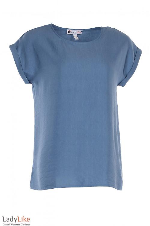 Футболка голубая оверсайз. Деловая женская одежда