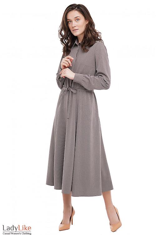 Сукня на кулісі в крапочку Діловий Жіночий Одяг фото
