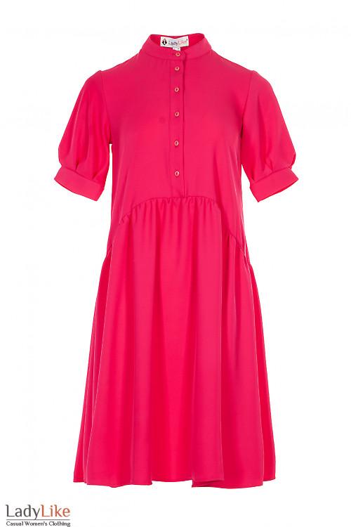 Платье нарядное малиновое просторное. Деловая женская одежда фото