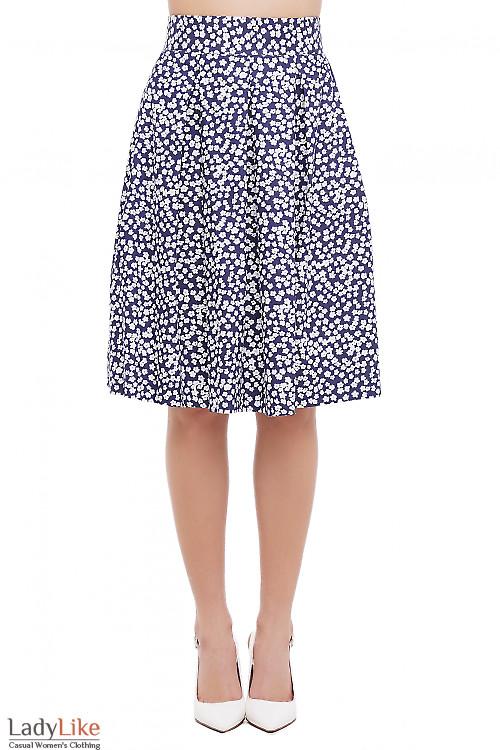 Юбка джинсовая в ромашки Деловая Женская Одежда фото