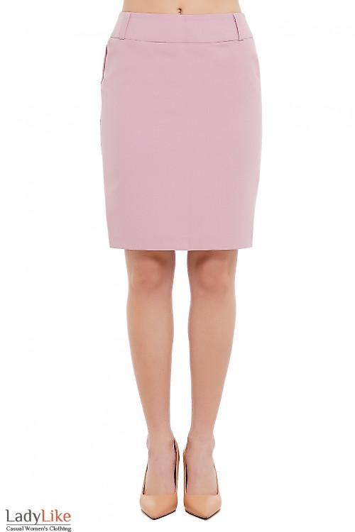 Юбка офисная розовая Деловая Женская Одежда фото