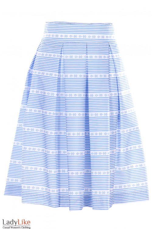Юбка в голубую полоску Деловая Женская Одежда фото