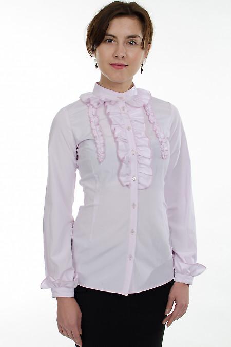 Блузка лиловая с рюшами Деловая женская одежда