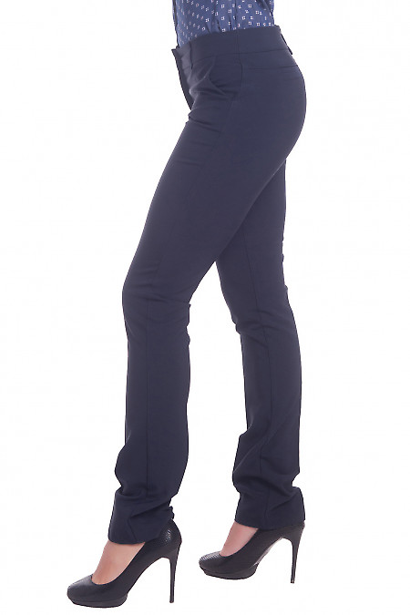 Синие брюки со средней посадкой