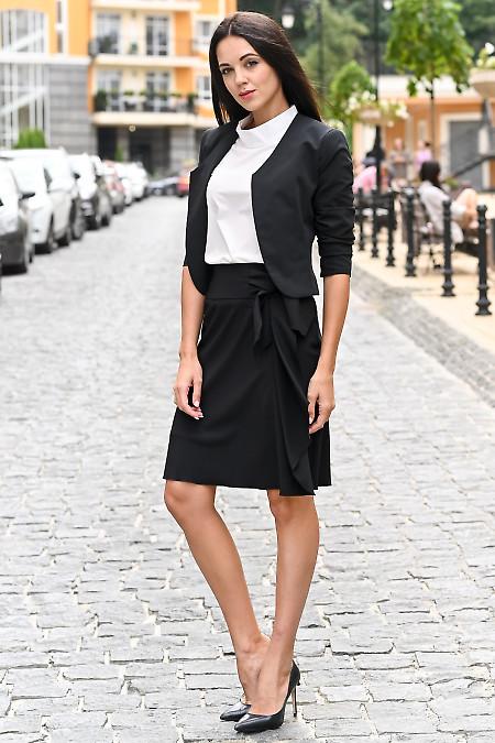 Женский черный костюм. Деловая женская одежда