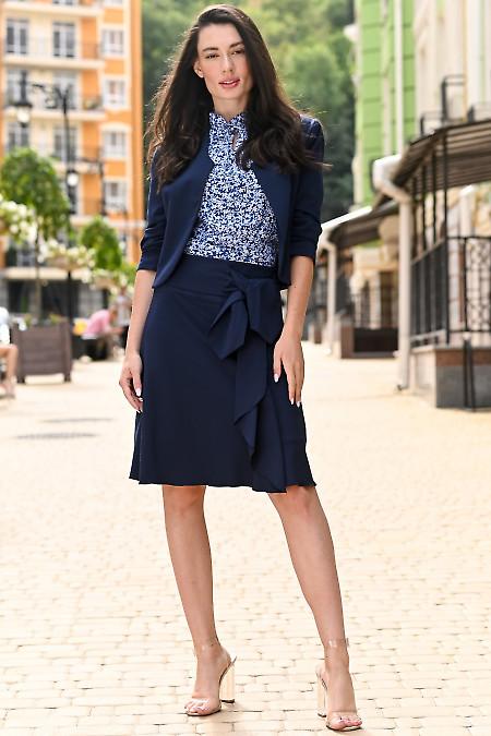 Женский темно синий костюм. Деловая женская одежда