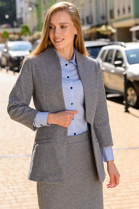 Пиджак в синюю диагональ фото
