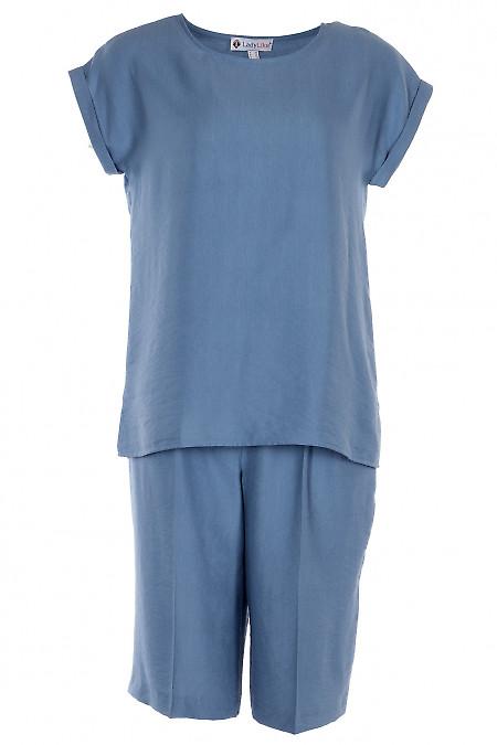 Лляний костюм із шортами-бермудами. Діловий жіночий одяг