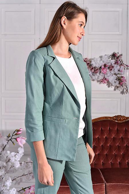 Удлиненный оливковый пиджак