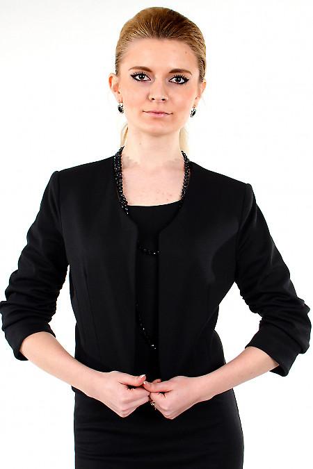 Болеро черное трикотажное. Деловая женская одежда