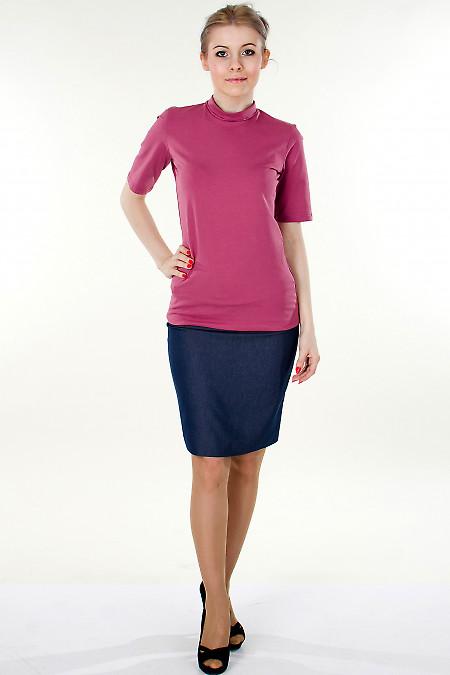 Фото Гольф розовый с коротким рукавом Деловая женская одежда