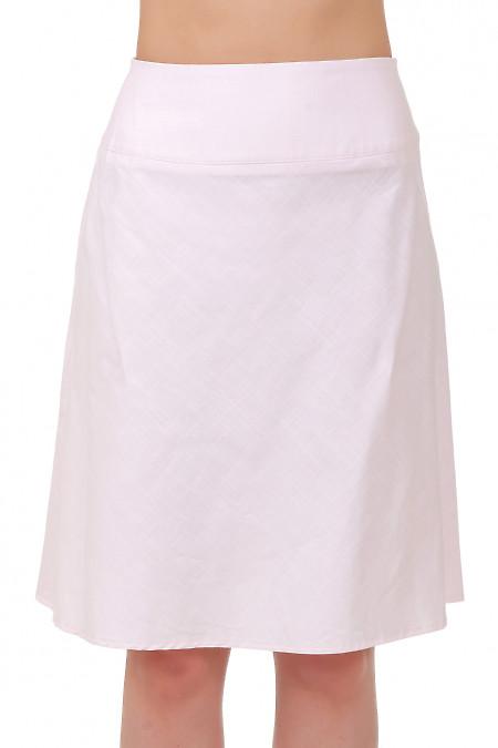 Юбка льняная розовая Деловая женская одежда