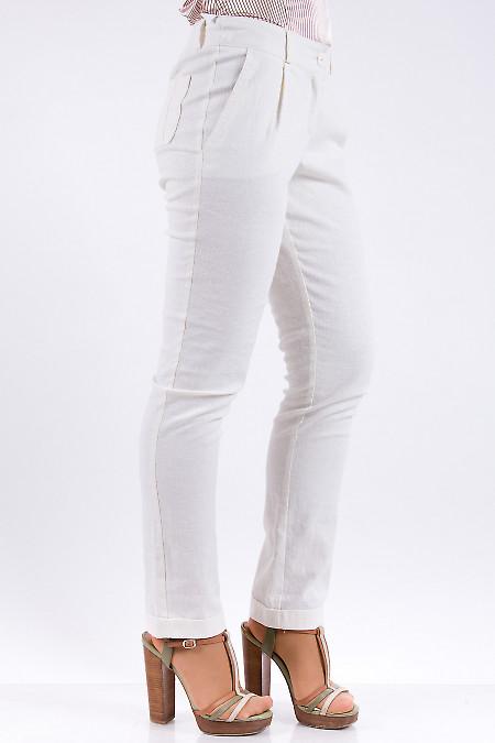 Фото Брюки из льна Деловая женская одежда