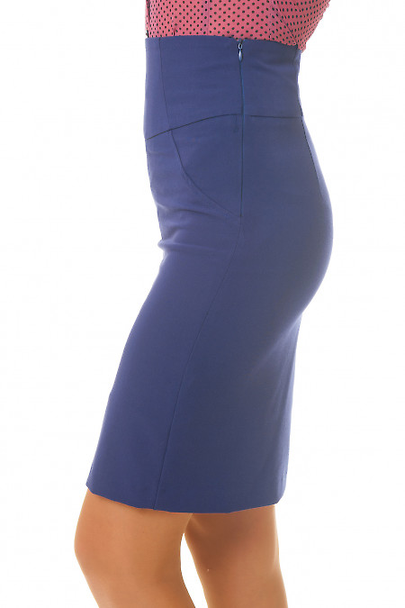 Купить строгую синюю юбку Деловая женская одежда