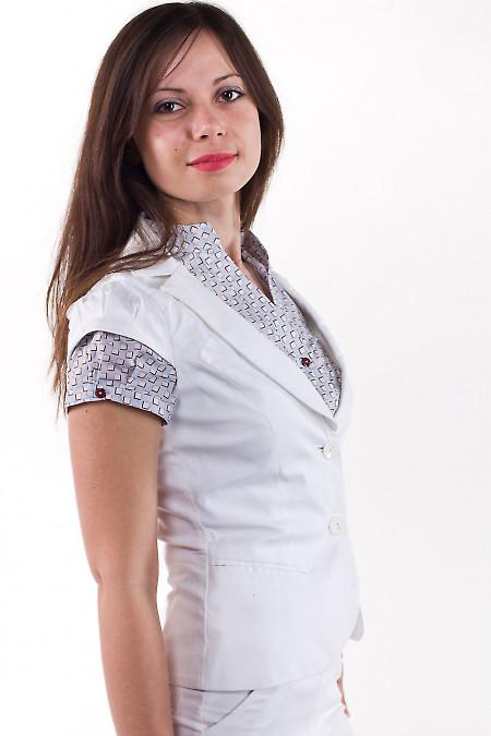 Фото Жилетка из хлопка Деловая женская одежда