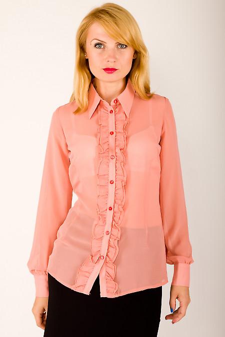 Фото Блузка с рюшами Деловая женская одежда