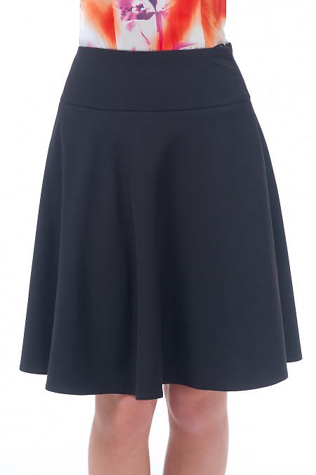 Юбка миди черная Деловая женская одежда