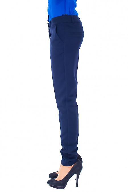 Женские синие теплые брюки Деловая женская одежда