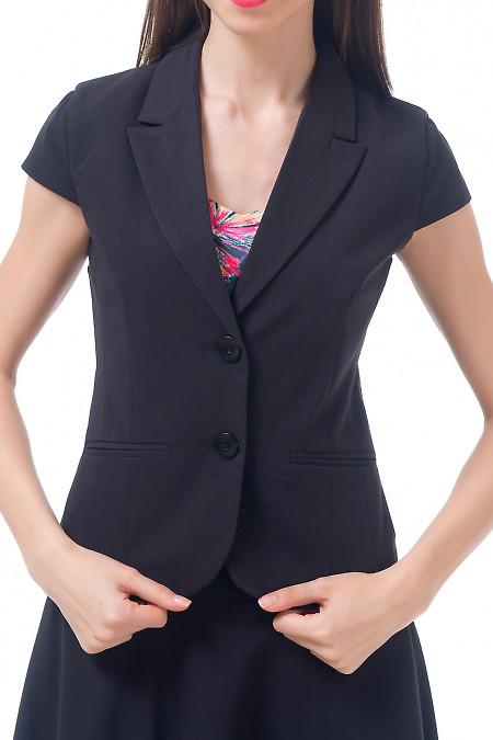 Жилет черный классический Деловая женская одежда