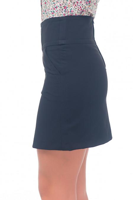 Купить короткую черную юбку-трапецию Деловая женская одежда