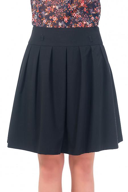 Юбка черная пышная с карманами. Деловая женская одежда
