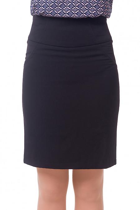 Юбка черная теплая с рельефами. Деловая женская одежда