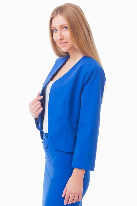 Купить синее болеро Деловая женская одежда